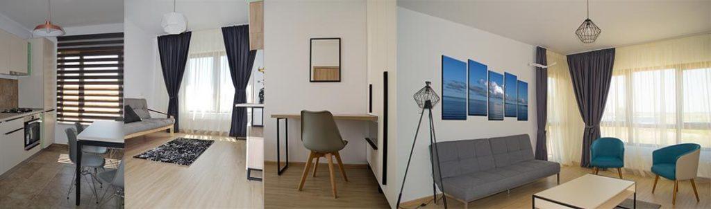 Cum sa-ti desenezi creativ living-ul, dormitorul si bucataria intr-un apartament